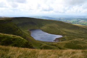 Lyn-y-Fan Fach & Llyn-y-Fan Fawr lakes, Brecon Beacons National Park, Wales, United Kingdom